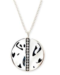 Ippolita | Metallic Sterling Silver Senso™ Large Station Disc Pendant Necklace With Diamonds | Lyst