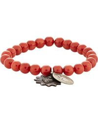 Miracle Icons - Red Double-charm Bracelet for Men - Lyst