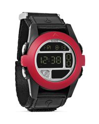 Nixon - The Baja All Black And Red Watch, 50mm for Men - Lyst