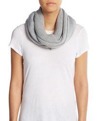 Calvin Klein | Gray Knit Infinity Scarf | Lyst