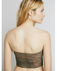 Free People | Green Intimately Womens Cropped Lace Tube | Lyst