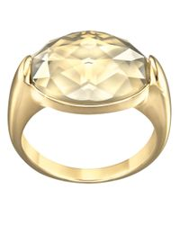 Swarovski | Metallic Vanilla Goldtone Crystal Ring | Lyst