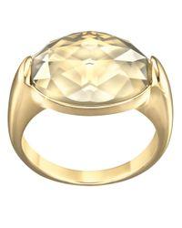 Swarovski | Metallic Vanilla Goldtone Crystal Ring | Lyst