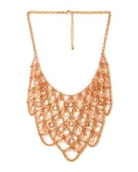 Forever 21 - Metallic Femme Faux Stone Bib Necklace - Lyst