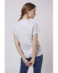 TOPSHOP - Gray Petite Exclusive Nypd Tee - Lyst