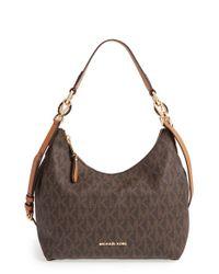 MICHAEL Michael Kors - Brown 'medium Isabella' Convertible Leather Shoulder Bag - Lyst
