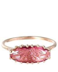 Suzanne Kalan - Rose Gold Pink Topaz Oval Ring - Lyst