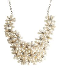 ALDO | White Nelanna Pearl Flower Necklace | Lyst