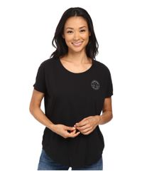 Converse - Black Core Plus Chuck Patch Cap Sleeve Scoop Tee - Lyst