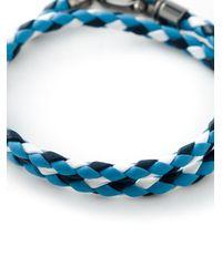 Tod's - Blue Braided Bracelet for Men - Lyst