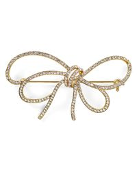Nadri | Metallic Thin Bow Pin | Lyst