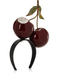 Piers Atkinson - Red Bitten Cherries Crystal-Embellished Headband - Lyst