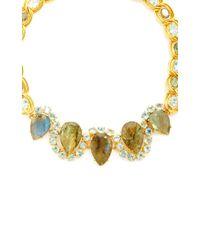 Bounkit | Blue Quartz And Labradorite Necklace | Lyst