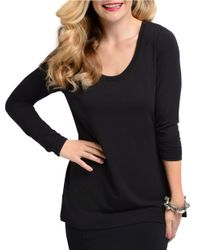 Lyssé | Black Relaxed Fit Drape Top | Lyst