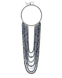 INC International Concepts | Hematite-tone Blue Bead Multi-row Collar Necklace | Lyst