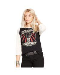 Denim & Supply Ralph Lauren - Black Raglan Graphic Shirt - Lyst