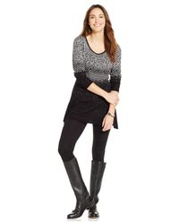 Style & Co. | Black Petite Knit-pattern Tunic Sweater | Lyst