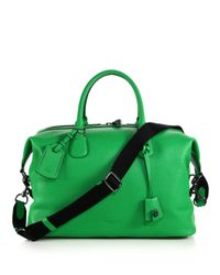 COACH | Green Explorer Leather Duffel Bag for Men | Lyst