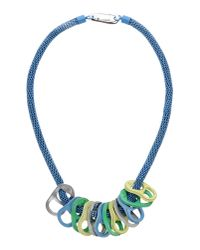 KENZO - Blue Necklace - Lyst