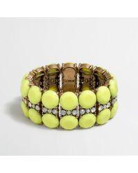 J.Crew - Yellow Factory Lemonstripe Bracelet - Lyst