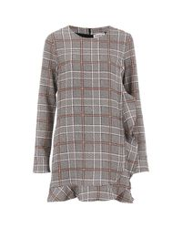 Essentiel Antwerp | Gray Women's Check Dress | Lyst