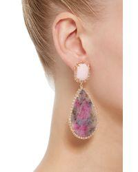 Irene Neuwirth - Pink Opal Diamond Drop Earrings - Lyst