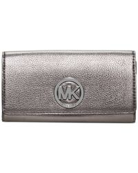 Michael Kors | Metallic Michael Fulton Carryall Wallet | Lyst