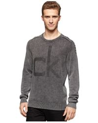 Calvin Klein Jeans | Black Acid Logo Sweatshirt for Men | Lyst
