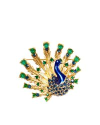 House of Lavande - Green Boucher Peacock Pin - Lyst