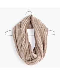 Madewell - Natural Softest Ribbed Circle Scarf - Lyst