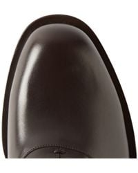 Gucci - Dark Brown Leather Oxford Shoes for Men - Lyst