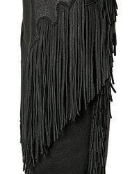 See By Chloé | Black 20mm Fringed Goat Over The Knee Boots | Lyst