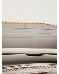 MICHAEL Michael Kors - White 'jet Set' Tech Continental Wallet - Lyst