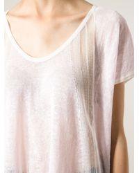Duffy - Pink Semisheer Fine Knit Sweater - Lyst