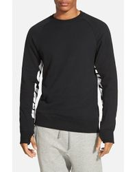 Nike | Black 'everett' Graphic Crewneck Fleece for Men | Lyst