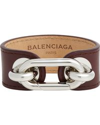 Balenciaga | Brown Maillon Bracelet-Colorless | Lyst