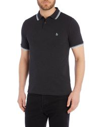 Original Penguin | Gray Due Short Sleeve Polo Shirt for Men | Lyst