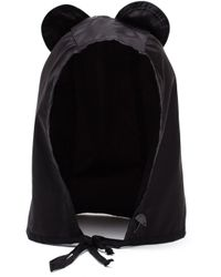 Maison Michel - Black Ears Tie Hood Hat - Lyst