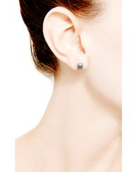 Dana Rebecca - Emily Sarah Square Earrings in Black Diamond - Lyst