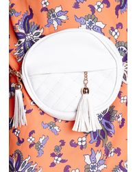 Missguided | Quilted Round Tassel Bag White | Lyst