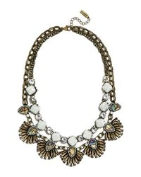 BaubleBar | Metallic 'anemone' Sea Glass Bib Necklace - Mint/ Antique Gold | Lyst