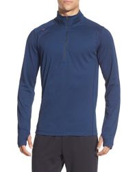 Rhone - Blue 'sequoia' Quarter Zip Training Pullover for Men - Lyst