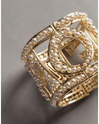 "Dolce & Gabbana - Metallic ""amore"" Cuff - Lyst"