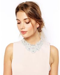 ASOS | Gray Limited Edition Crochet Flower Bib Necklace | Lyst