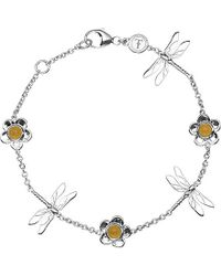 Theo Fennell | Green Sterling Silver And Yellow Jade Dragonfly Bracelet - For Women | Lyst