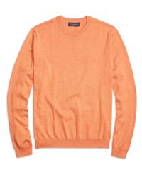Brooks Brothers | Orange Supima® Cotton Crewneck Sweater for Men | Lyst