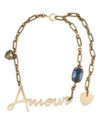 Lanvin | Metallic Amour Pendant Necklace | Lyst