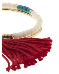 Aurelie Bidermann - Red Sioux Turquoise, Bamboo & Gold-Plated Cuff - Lyst
