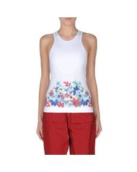 Stella McCartney - White Run Floral Print Tank - Lyst