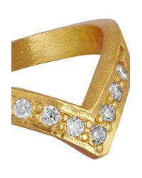 Kevia - Metallic Gold-tone Crystal Ring - Lyst